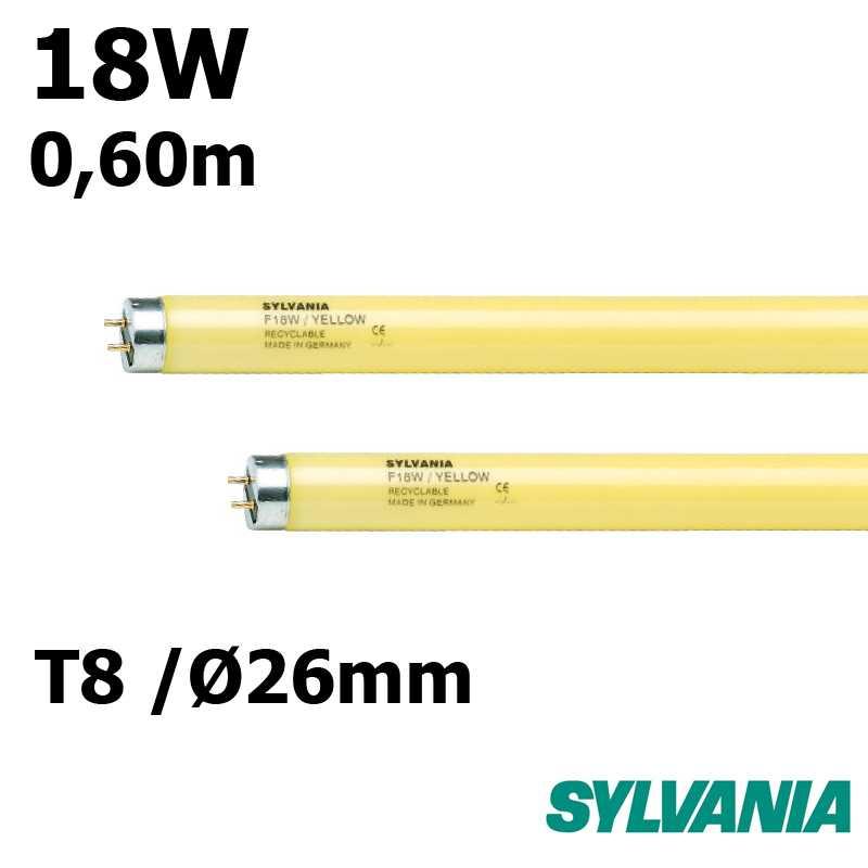 SYLVANIA 18W T8 JAUNE