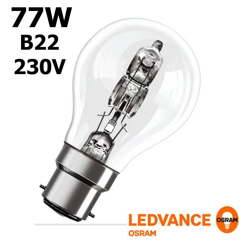 Ampoule eco-halogène 77W B22 240V RADIUM OSRAM