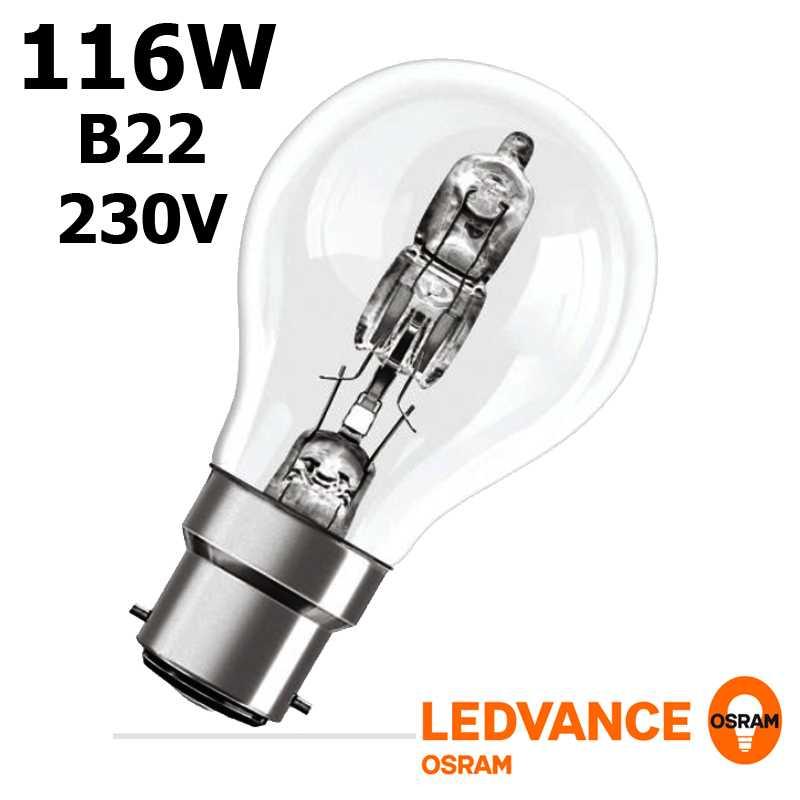 Ampoule eco-halogène 116W B22 240V RADIUM OSRAM