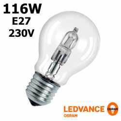 Ampoule eco-halogène 116W E27 230V RADIUM OSRAM