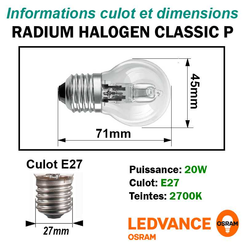 ECO HALOGENE 20W SPHERIQUE  E27