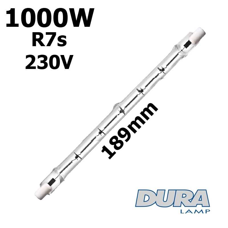 Tube 1000W R7s 230V 189mm - lampe halogene