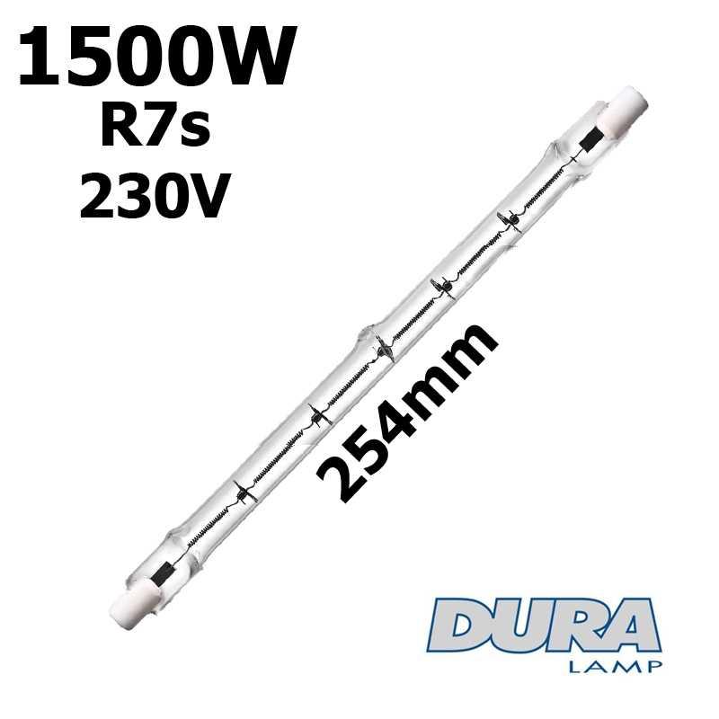 Tube 1500W R7s 230V 254mm - lampe halogene