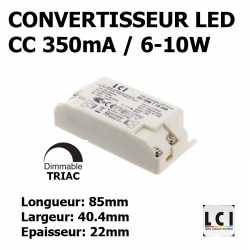 CONVERTISSEUR LED DIMMABLE 10W 350mA