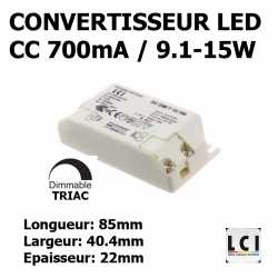 CONVERTISSEUR LED DIMMABLE 15W 700mA