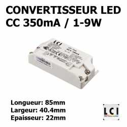 CONVERTISSEUR LED 1/9W 350mA