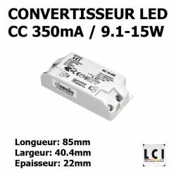 CONVERTISSEUR LED 15W 350mA