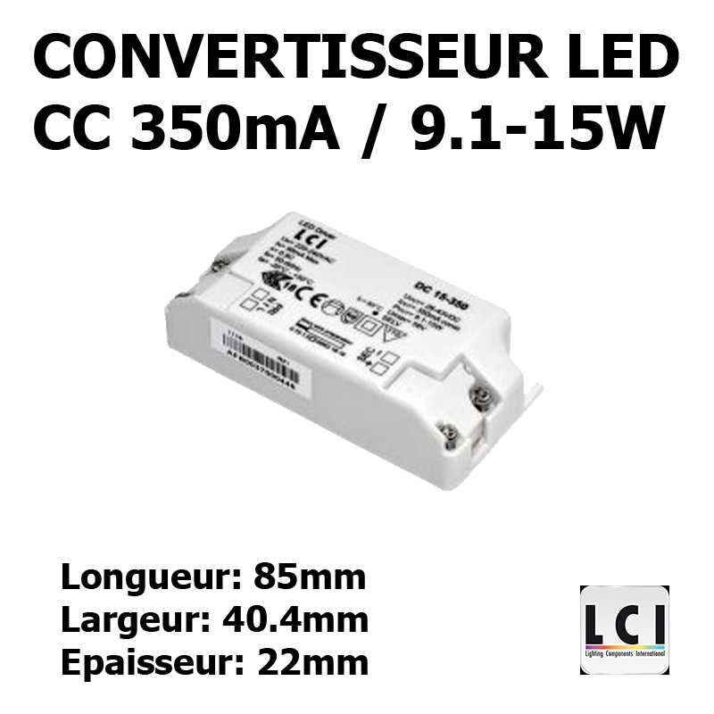 CONVERTISSEUR LED 15W 350mA