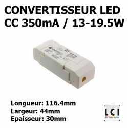 CONVERTISSEUR LED 19W 350mA