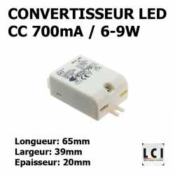 CONVERTISSEUR LED 9W 700mA