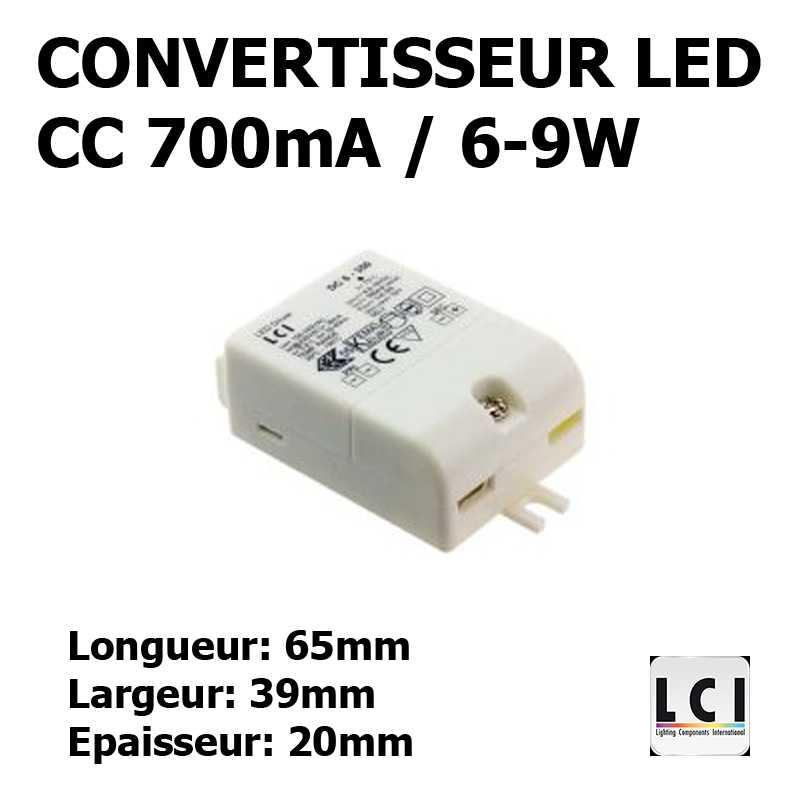 CONVERTISSEUR LED 9W 700mA