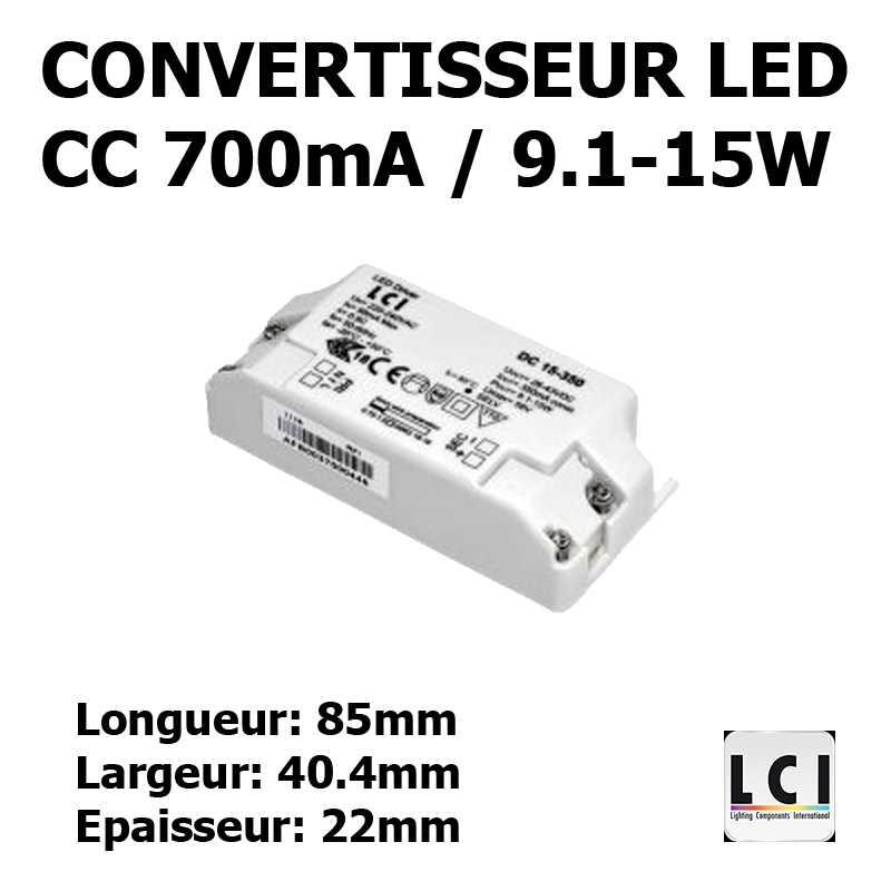 CONVERTISSEUR LED 15W 700mA