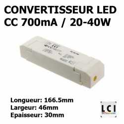 CONVERTISSEUR LED 40W 700mA