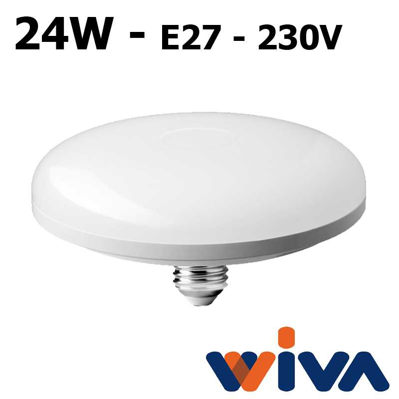 Lampe Led 24w 230v Wiva E27 Basic Disk wPNyvm8On0