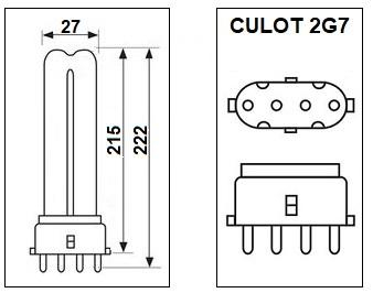 Lampe 2G7 11W