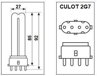 Lampe 2G7 5W