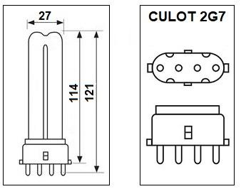 Lampe 2G7 7W