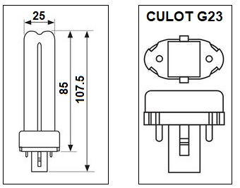 Lampe G23 5W