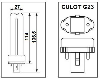 Lampe G23 7W