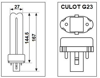 Lampe G23 9W