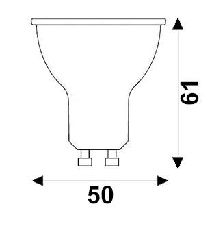 Dimensions spot LED GU10 de couleur