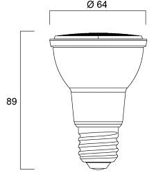 Spot LED SYLVANIA RefLED PAR20 E27