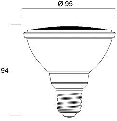 Spot LED SYLVANIA RefLED PAR30 E27