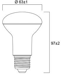 Spot LED SYLVANIA R63