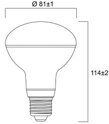 Spot LED SYLVANIA R80