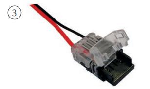 Connecteur pour recevoir le ruban LED