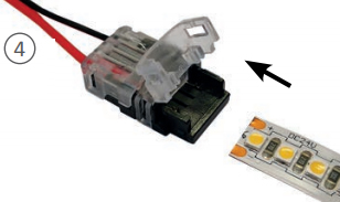 Préparation branchement du ruban LED