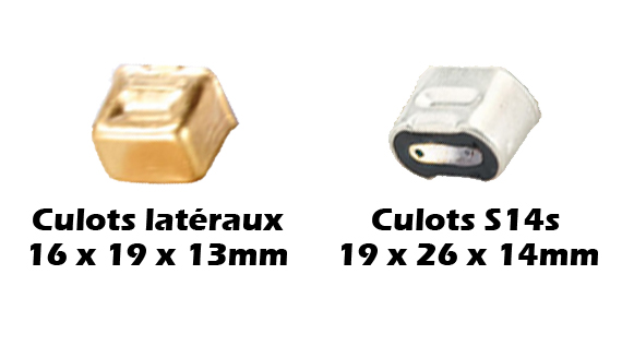 Culots latéraux ARIC S14s