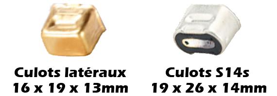Culot S14s et culots latéraux