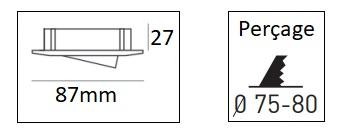 Dimensions collerette orientable JISO 634D