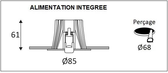 Dimensions spot INDIGO DAX RD-230