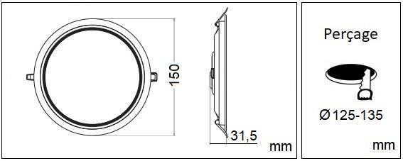 Dimensions LCI DL LED R5C