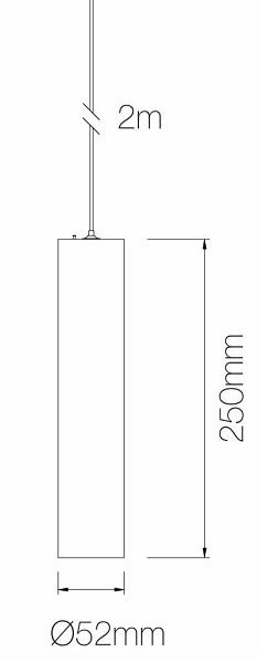 Dimensions suspension BENEITO ATMOS