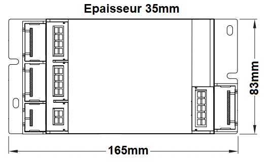 Dimensions alimentation LED LCI DCC 50W