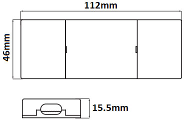 Dimensions transformateur 24V 12W LCI 1600600