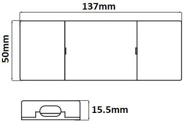 Dimensions transformateur 24V 24W LCI 1600605
