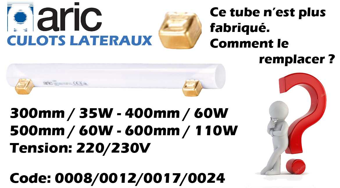 REMPLACEMENT DES TUBES OPALES ARIC CULOTS LATERAUX