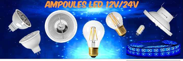 Ampoules LED 12V et lampes LED 24V
